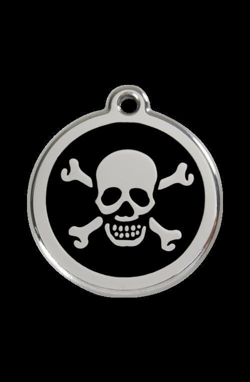 Black Skull & Crossbones Pet Tag