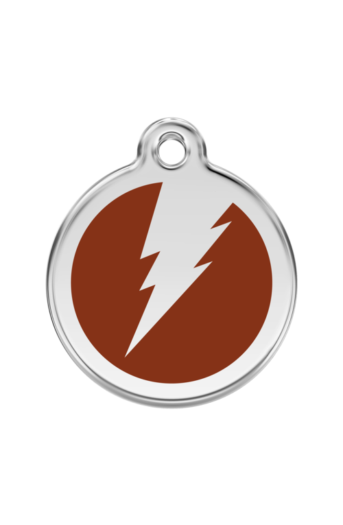 Brown Flash Pet Tag