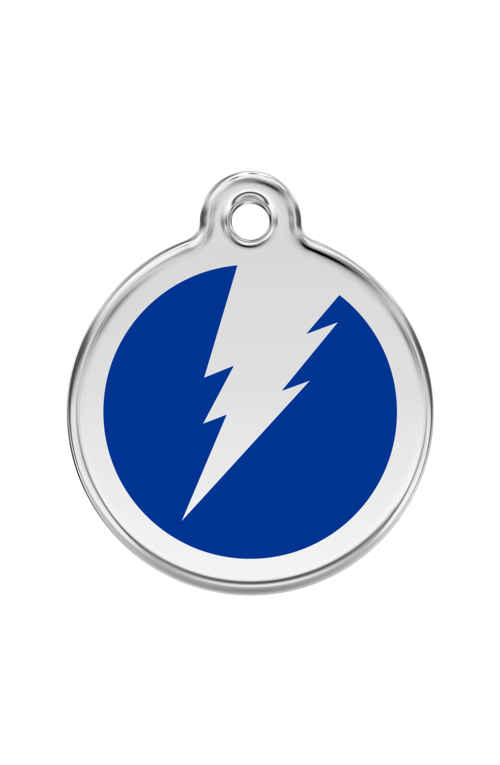 Dark Blue Flash Pet Tag