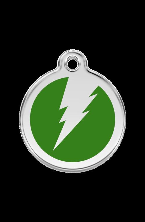 Green Flash Pet Tag