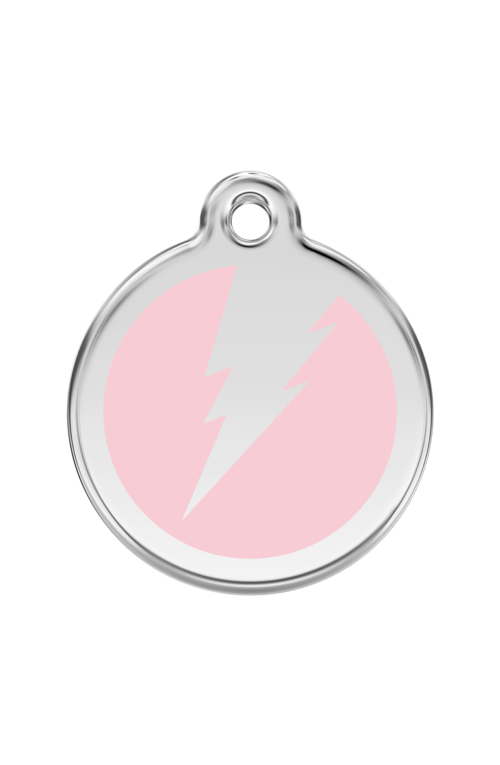 Pink Flash Pet Tag
