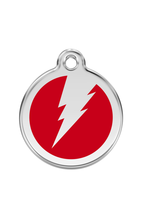 Red Flash Pet Tag