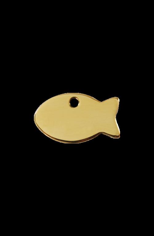 Brass Fish Pet Tag