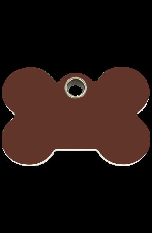 Brown Bone Plastic Pet Tag