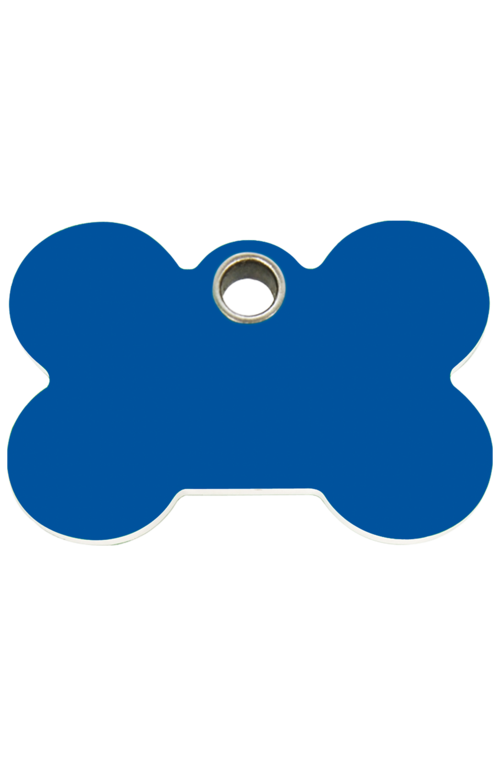 Dark Blue Bone Plastic Pet Tag