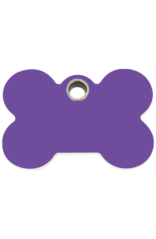 Purple Bone Plastic Pet Tag