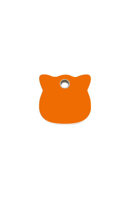 Orange Cat Head Pet Tag