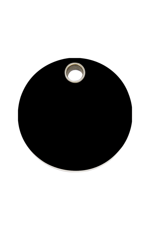 Black Circle Pet Tag