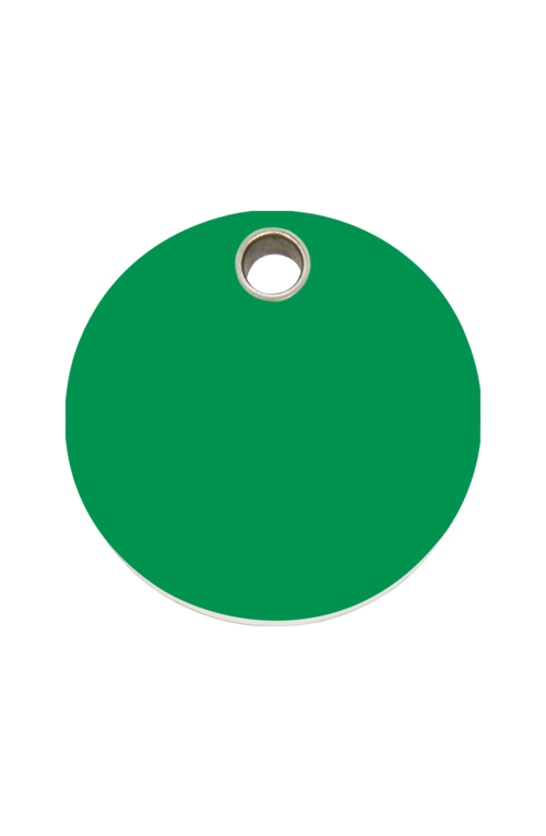 Green Circle Pet Tag