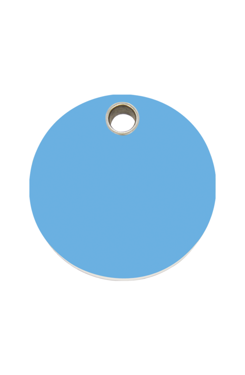 Light Blue Circle Pet Tag