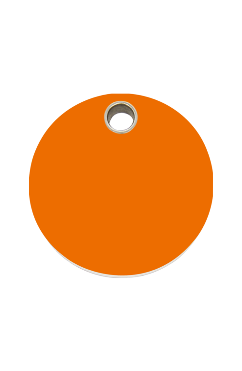 Orange Circle Pet Tag