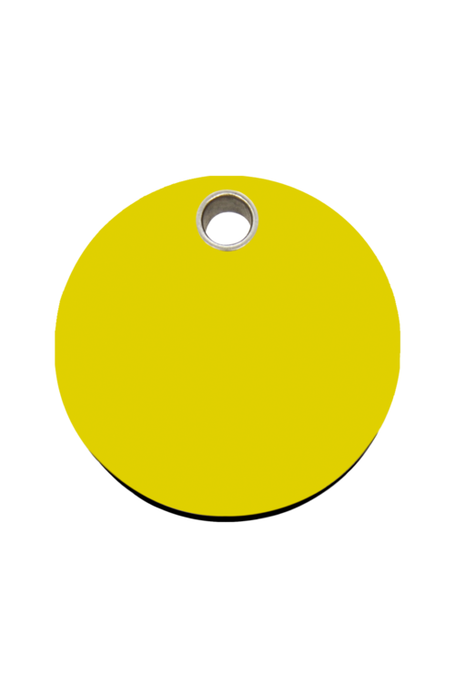 Yellow Circle Pet Tag