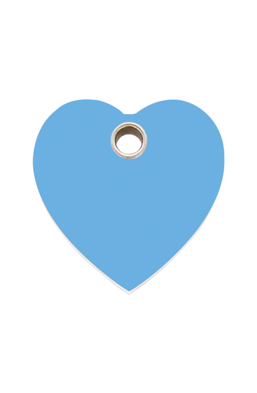 Light Blue Heart Plastic Pet Tag