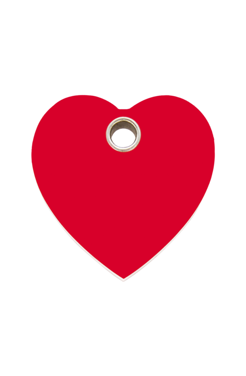 Red Heart Plastic Pet Tag
