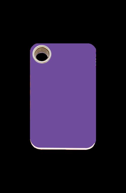 Purple Rectangle Plastic Pet Tag