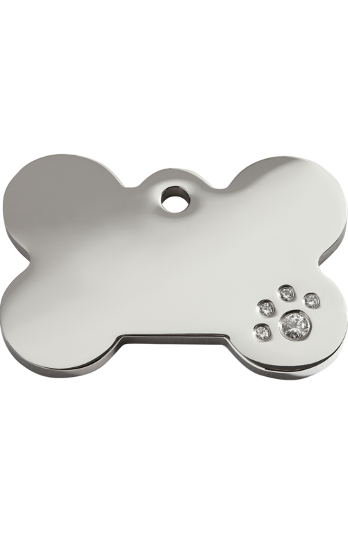 Diamante Bone Pet Tag