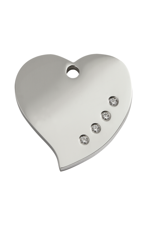 Diamante Heart Pet Tag