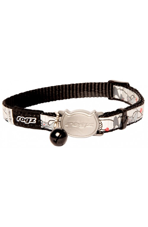 Rogz Reflecto Cat Collar 11mm - Black Cat