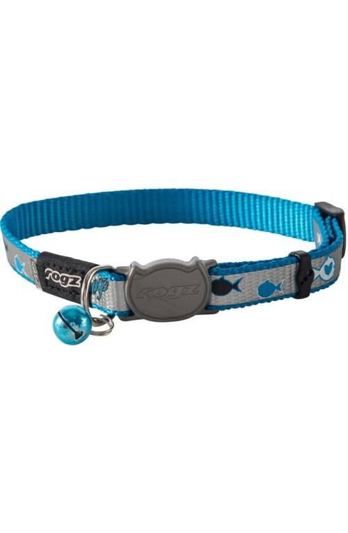 Rogz Reflecto Cat Collar 11mm - Blue Fish