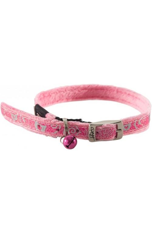 Rogz Sparkle Cat Pin Buckle Collar 11mm - Pink