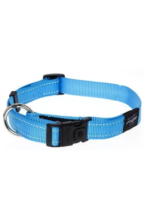 Rogz Utility Reflective Stitching Dog Collar - Turquoise