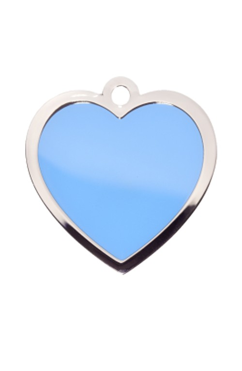 Blue Heart Pet Tag