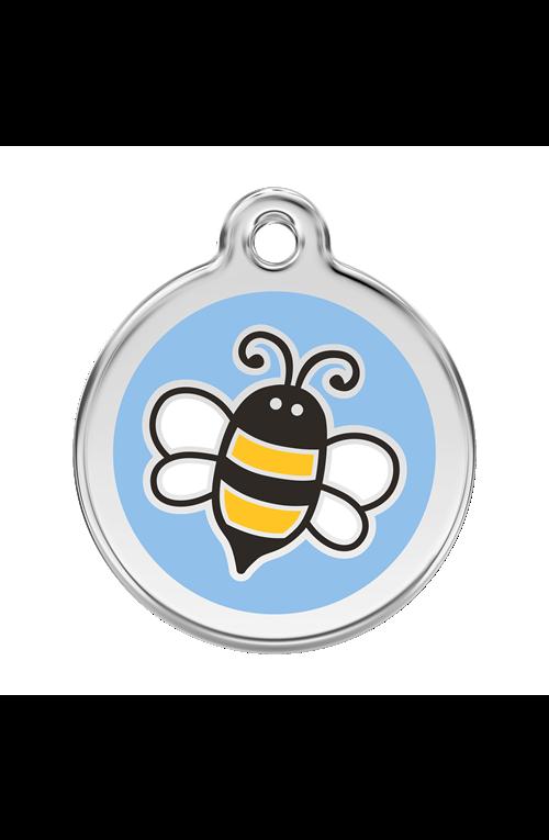 Light Blue Bumble Bee Pet Tag