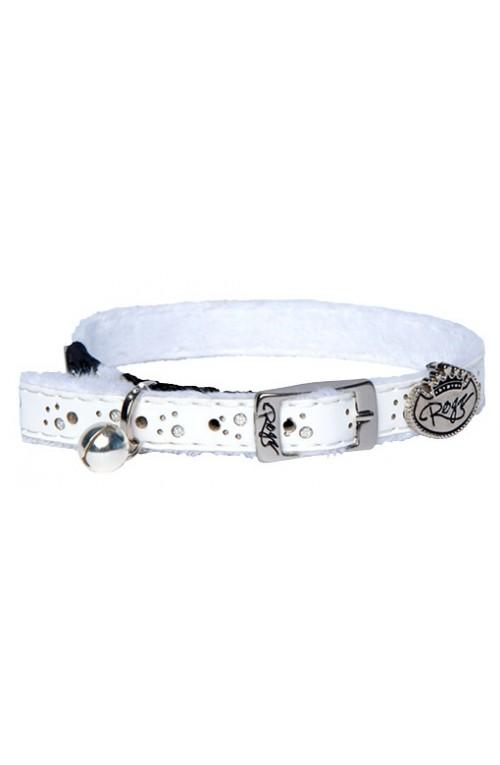 Rogz Trendy Cat Pin Buckle Collar 11mm - White