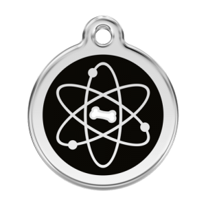 Black Atom Pet Tag