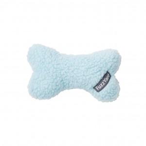 FuzzYard Plush Bone Dog Toy - Light Blue