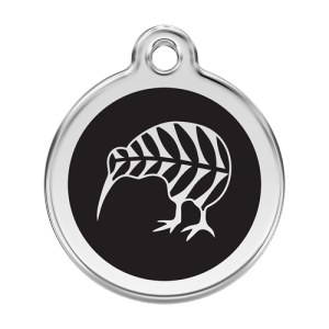 Black Kiwi Pet Tag