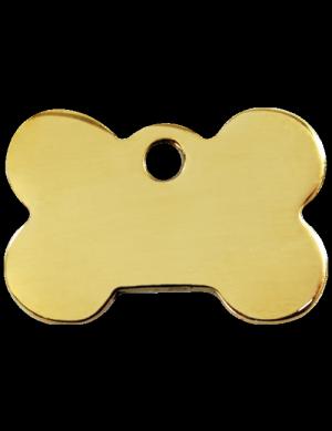 Brass Bone Pet Tag