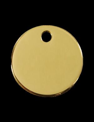 Brass Circle Pet Tag