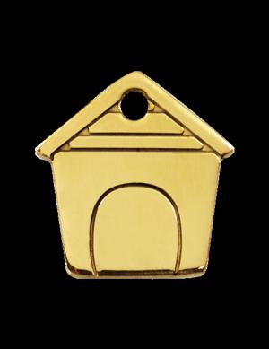 Brass Dog House Pet Tag