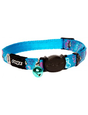 Rogz Neo Cat Collar 11mm - Turquoise Candystripes