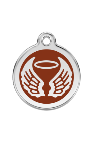 Brown Angel Wings Pet Tag