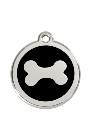 Black Bone Pet Tag