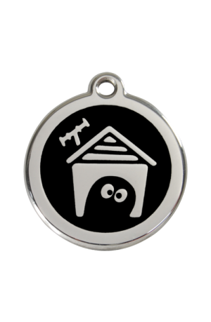 Black Dog House Pet Tag