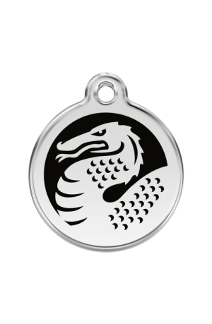 Black Dragon Pet Tag