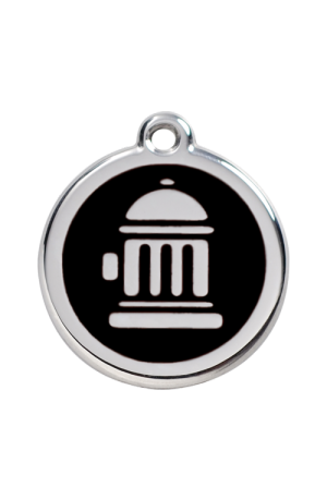 Black Fire Hydrant Pet Tag