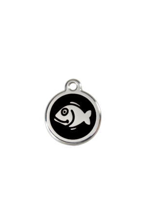 Black Fish Pet Tag