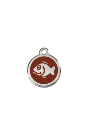 Brown Fish Pet Tag