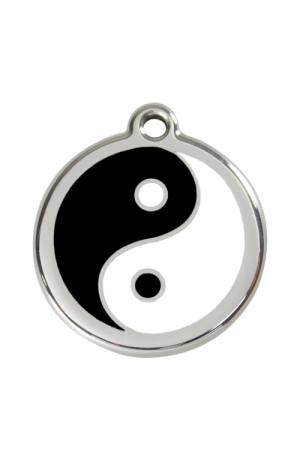 Black Ying and Yang Pet Tag