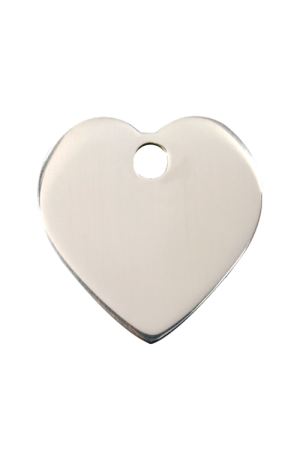 Stainless Steel Heart Pet Tag