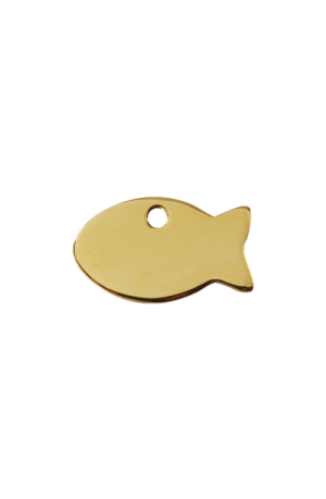 Brass Fish Pet Tag
