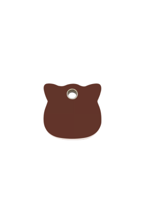 Brown Cat Head Pet Tag