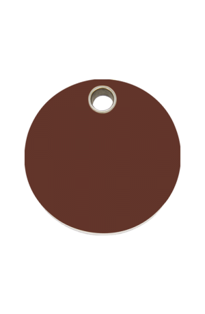 Brown Circle Pet Tag
