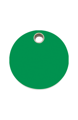 Green Circle Pet Tag