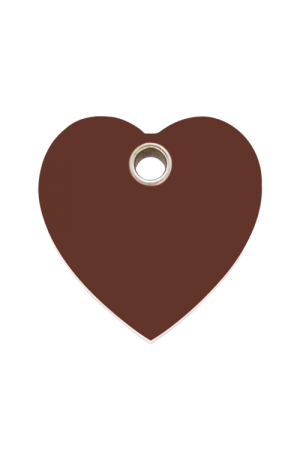 Brown Plastic Heart Pet Tag