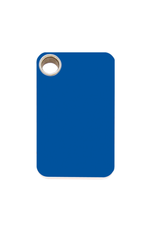 Dark Blue Rectangle Plastic Pet Tag